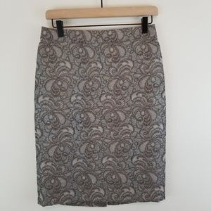 Ann Taylor   Metallic Pencil Skirt